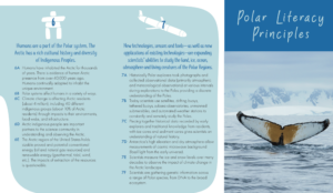 A snapshot of the Polar Literacy Principles brochure